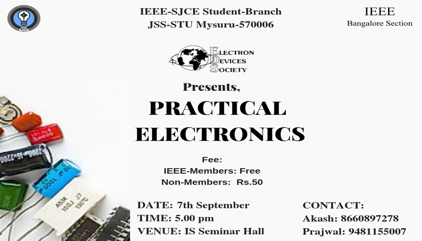 Ieee Sjce Events Introduction To Electronic Components The Sessions Are Divided Into Various Phasesthe First Phase Involves Basic Like Diodes
